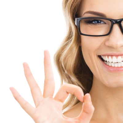 smiling-woman-giving-ok-sign